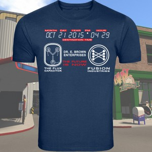 Blue Back To the Future 2 T-Shirt