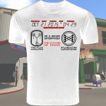 white Back To the Future 2 T-Shirt
