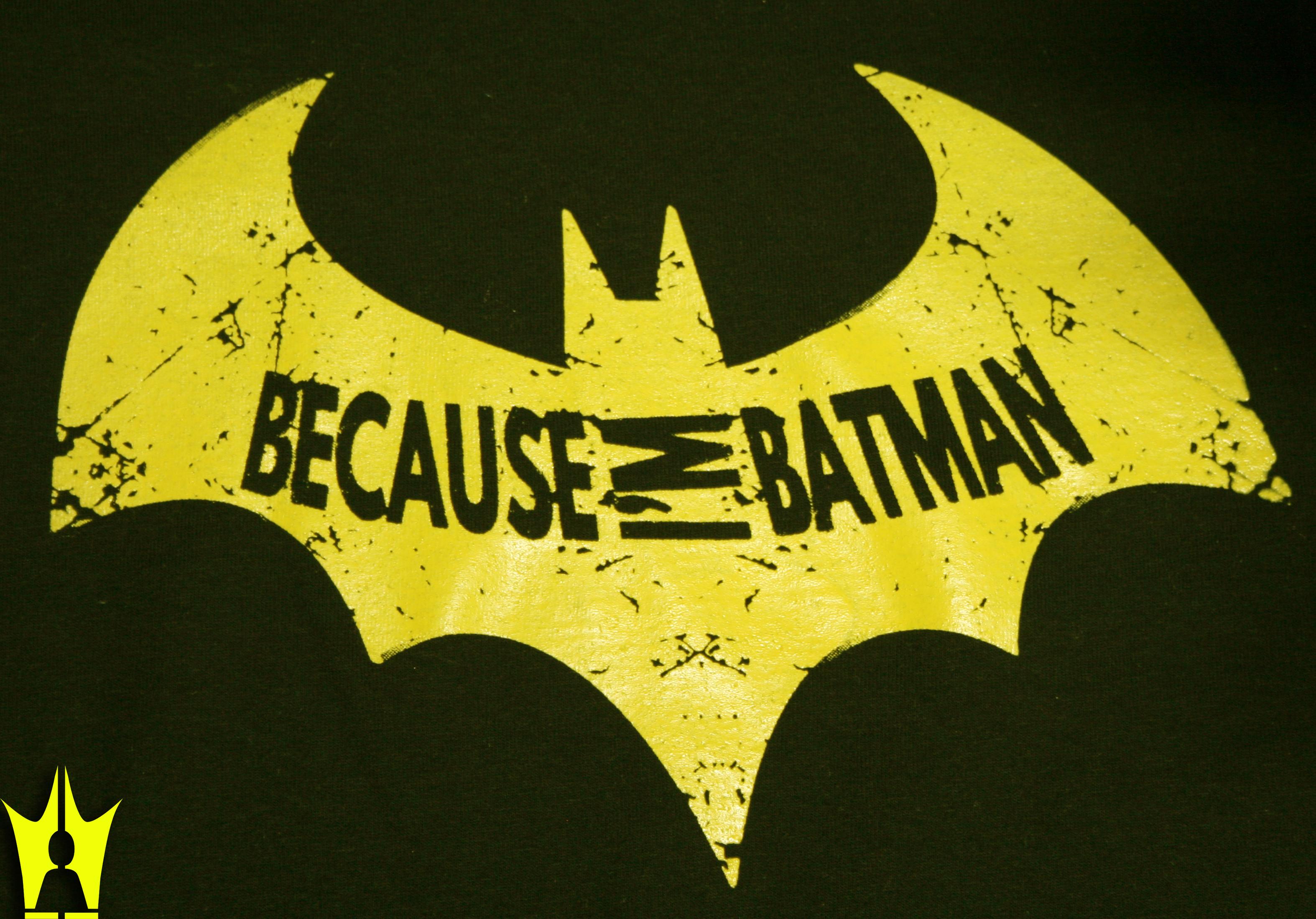 Inspired Because I M Batman T Shirt King Boss Shop