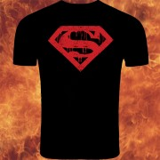 Superman Logo Black And Red Tshirt