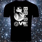 bb-8 T-shirt BlackWithWhite
