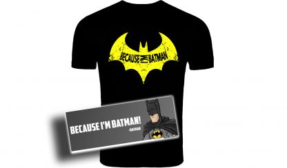 Because Im Batman Tshirt,Batman, t-shirt, awesome, batman,