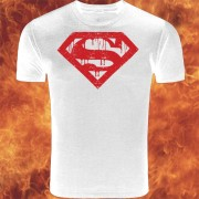 Superman Logo White and Red T-Shirt