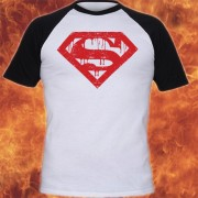 Superman Logo WhiteAndRedBaseball