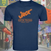 "Inspired By Big Trouble In Little China (1986) ""Jack Burton Trucking"" Screenprinted T-shirt."