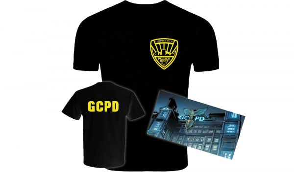 713cbd3144a3 Batman Inspired Gotham City Police Department Two-Sided Screen-Printed T- Shirt