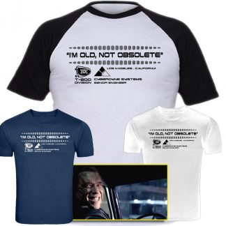 best terminator tshirts, best genisys tshirts, arnie, arnold, schwarzenegger, king boss terminator, t800, cyberdyne systems, smile, im old not obsolete,terminator 2 shirt cyberdyne systems t shirt, the terminator t shirt, cyberdyne t shirt, t shirt terminator, the terminator shirt