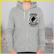 Rocky Balboa Italian Stallion Mighty Mick's Grey Hoodie Original Design Screenprinted