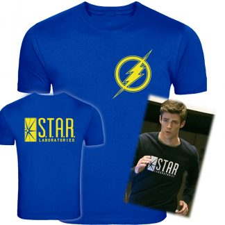 Flash Logo T Shirt,Star Labs T-shirt, Clothes, T-Shirt, DcComics, Barry Allen, Colourful, Original, Amazing
